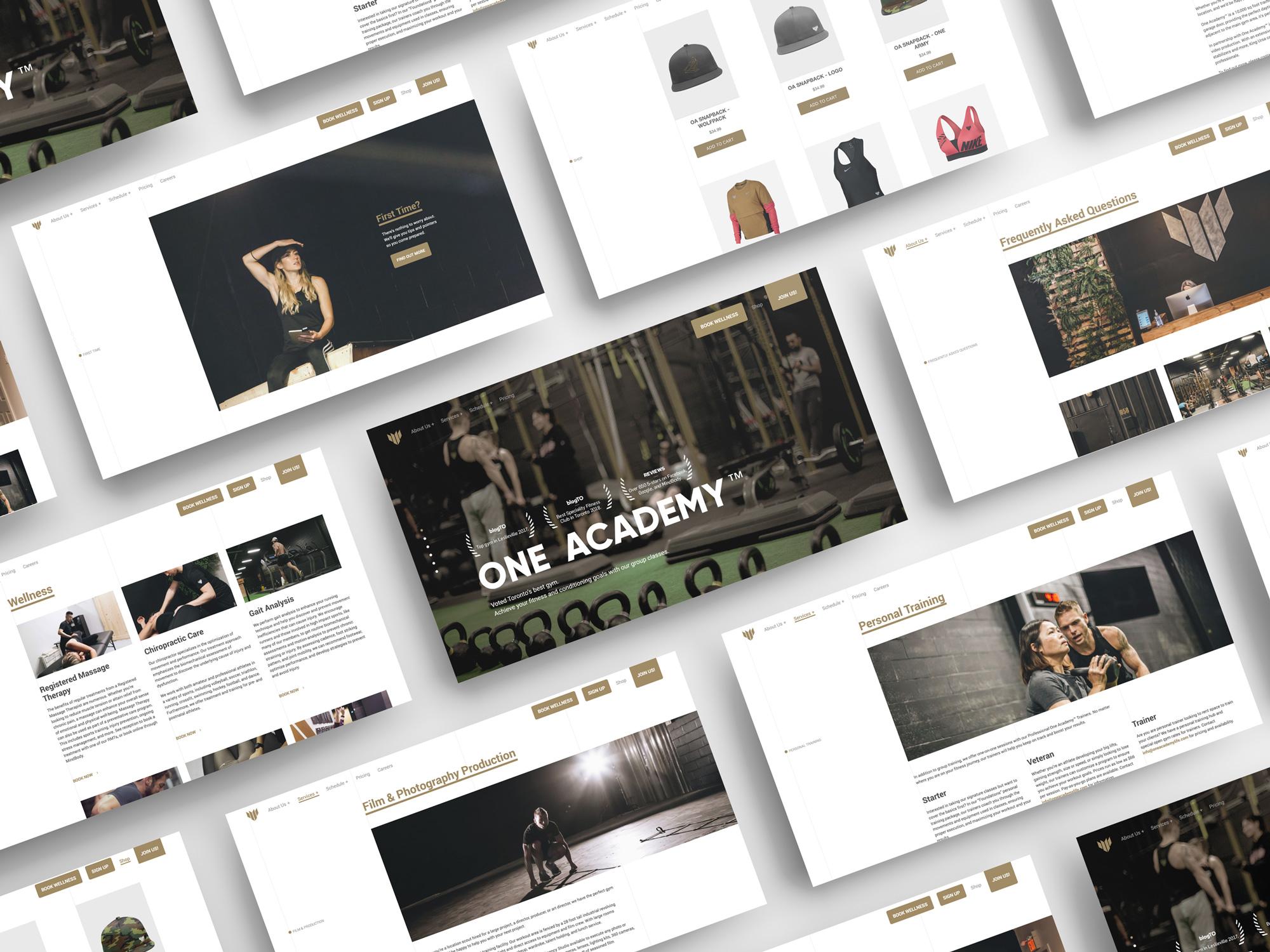 One Academy Web Mock Up